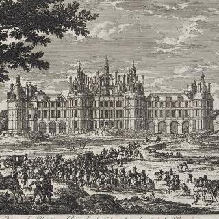 판 106 : 입구 쪽의 샹보르 왕실 성 전경