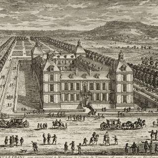 판 114 : 앙시-르- 프랑 성의 전경