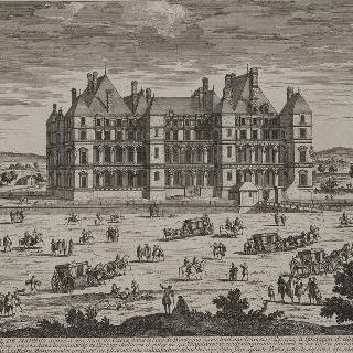 판 36 : 파리 근처, 불로뉴 숲에 위치한 마드리드의 왕실성 전경