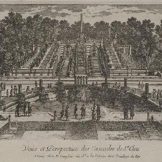 판 37 : 생-클루 성 정원의 그랑 카스카드의 전경