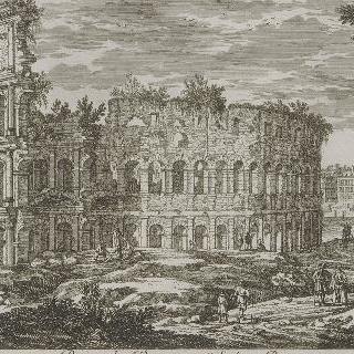 판 121 : 로마의 콜로세움 또는 극장 전경