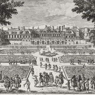 판 9 : 1680년경 팔레 루아얄과 정원 전경