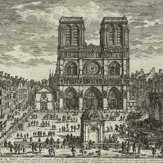 판 25 : 파리의 노트르담 교회 정면과 앞뜰 전경