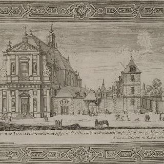 판 57 : 파리, 생제르멩 데 프레에 위치한 예수회파 수련 교회 전경