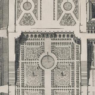 판 121 : 베르사유 성의 오랑쥬리 회화관과 미디 화단
