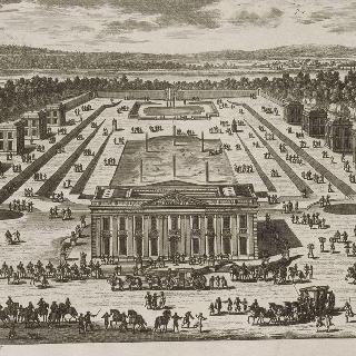 판 159 : 마를리 성과 정자들의 전경, 건물 입구 쪽