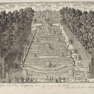 판 163 : 마를리 성의 소공원 안의 정원에 있는 큰 폭포 전경