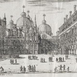 판 288 : 베니스의 생-마르크 바실리크 회당과 광장