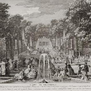 판 46 : 1730년경 베르사유 정원 안의 개선문 총림 전경