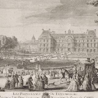 판 3 : 1730년경 파리 룩셈부르크 정원과 궁 전경