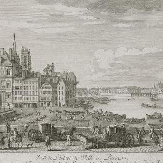 판 6 : 1730년경 센 강변 그레브 광장과 파리시청 전경