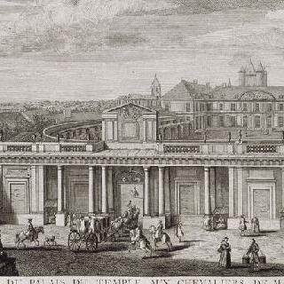 판 19 : 1750년경 입구 쪽에서 본 파리의 탕플 궁 전경