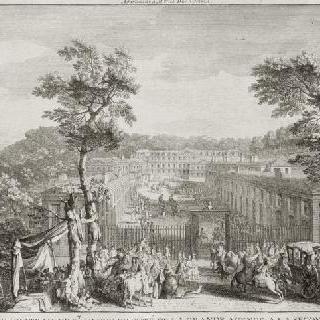 판 71 : 1730년경 두 번째 철책 입구 대로에서 본 생-클루 성 전경