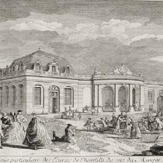 판 91 : 1739년 조마장 쪽의 샹티이 마구간 전경