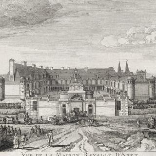 판 108 : 당시 멘 공작부인의 소유였던 1740년경의 아네 성 전경