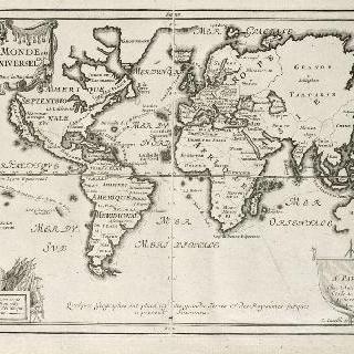 판 7 : 니콜라 드 페르가 작성한 세계 지구 전도