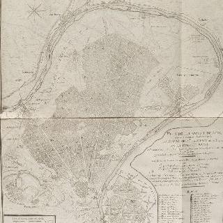 지도 57 : 1710년경의 생-제르맹-앙-레이, 베지네, 푸아시 숲의 전경