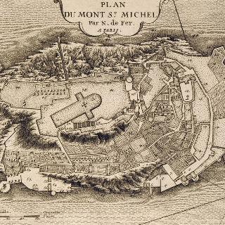 판 85 : 1705년 몽 생 미쉘 수도원과 암벽 지도
