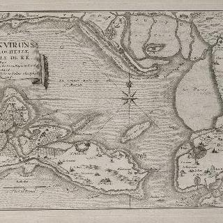 판 93 : 1715년 라로쉘 근교와 레 섬 근방 지도