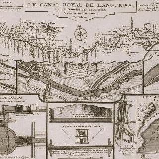 판 101 : 1716년의 랑그독 운하 설계도