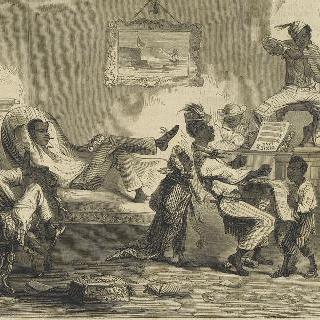 주인에게서 탈출한 후 스스로 즐기고 있는 보포르 노예들