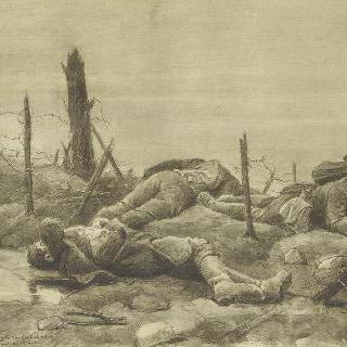 철조망 안의 독일군 시체들
