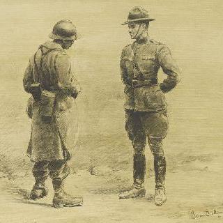 두 친구, 수염난 프랑스병과 미군 장교