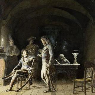 1800년 이탈리아 원정 기간의 보고를 듣는 보나파르트