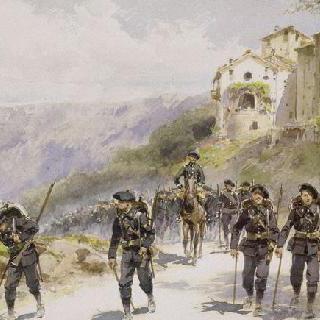 마을 근처의 알프스 주민들