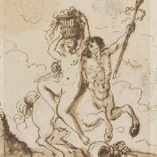 켄타우로스와 바쿠스신의 여제관