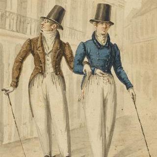 산책하는 두 명의 멋쟁이들