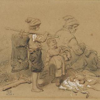 노르망디의 어부와 자식들