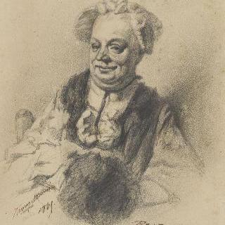 18세기 의복을 입은 여인의 초상