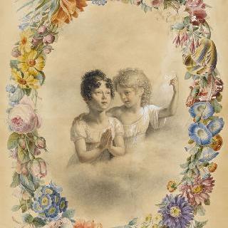 줄 브랭 드 로네이와 누이의 초상