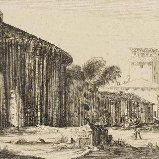 로마의 용감한 행운의 여신과 베스타의 신전