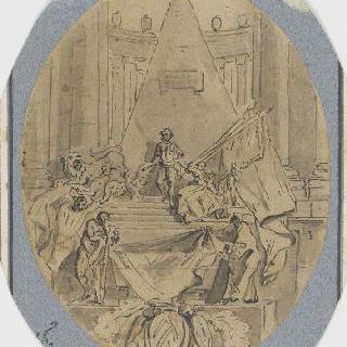 모리스 드 삭스의 스트라스부르의 장례기념물의 첫 번째 구상