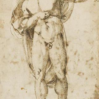 화살이 관통한 서 있는 성 세바스티아누스