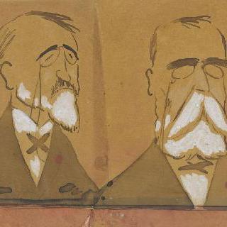 작곡가 테오도르 뒤부아와 루도비크 알레비로 추정되는 초상들