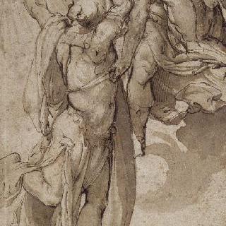 미네르바의 도움을 받는 신의 불을 훔쳐낸 프로메테우스