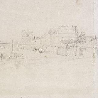 파리의 센강과 노트르담 대성당