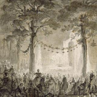 1759년 그리엘 댁에서의 생 클루 무도회의 불꽃