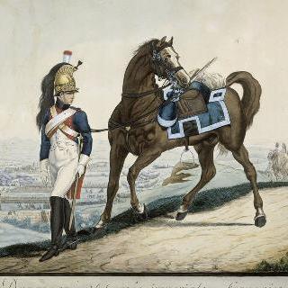 1809년-1812년 경의 용기병 임시 제 5연대의 기병