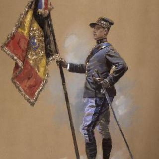 1914년 벨기에 기병대의 기수