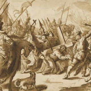 십자가의 무게에 짓눌린 그리스도