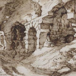 로마 콜로세움 내부의 일부 전경