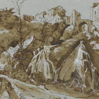 1587년경의 티볼리 폭포의 전경