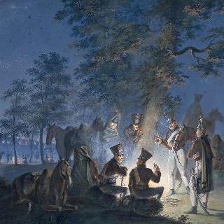 1805년 아우스터리츠의 제 2 경기병 연대의 야영지
