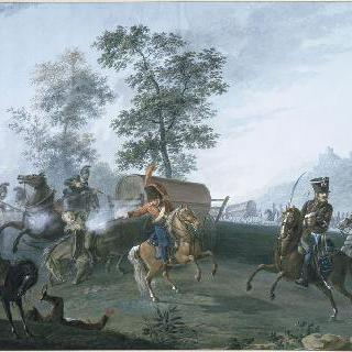 1805년 12월 2일 아우스터리츠의 제 2 경기병 연대의 오스트리아 수송단의 탈환