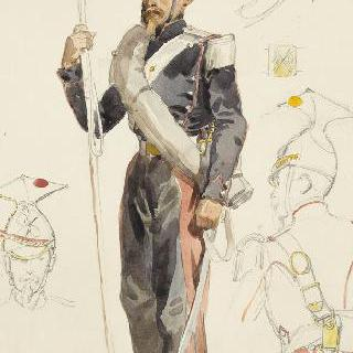1854년 창기병들, 원정대 복장의제 7연대 기병