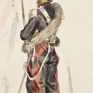 1854년 창기병들, 원정대 복장의 기병